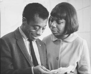 Nina Simone and James Baldwin sharing a moment..